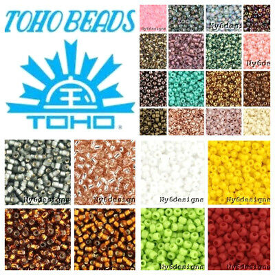 Tiny Toho Japan Glass Seed Beads 11/0 8-Grams Tube Choose Color Jewelry DIY
