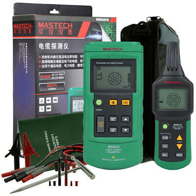 MASTECH MS6818 Advanced Cable Tracker Pipe Detector Network LAN Wire Tester New