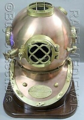 Vintage Mark V Diving Divers Helmet US Navy Mourse Collectibles Chirstmas Gift