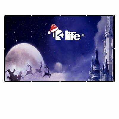 """Large Projector Screen 200"""" 100""""120""""150""""180"""" Movie Cinema Screen for HomeTheater"""