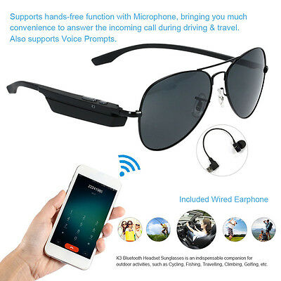 Sunglasses Bluetooth Stereo Music Phone Headset headphone Glasses Micphone K3-A