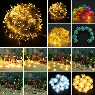 100M 800LED Battery Operated Mini LED Copper Wire String Fairy Lights Xmas Party