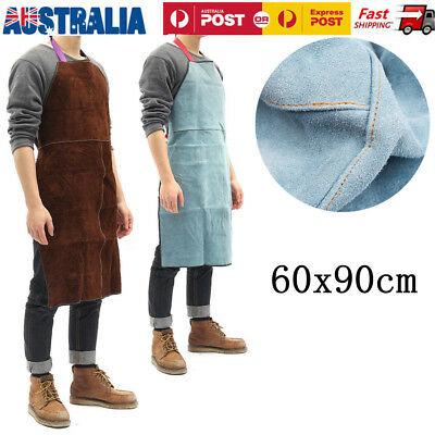 Welding Equipment Welder Heat Insulation Protection Apron Cow Leather AU