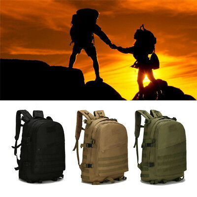 40L Martial Tactical Army Rucksacks Molle Backpack Camping Hiking Belt Bag AU