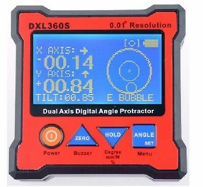 Digital Protractor Inclinometer Level Angle Magnetic Box 0.01° GRAVITY 2in1 CY