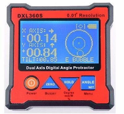 Digital Protractor Inclinometer Level Angle Magnetic Box 0.01° GRAVITY 2 in 1