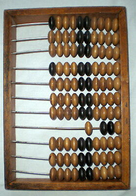 Vintage Russian Soviet Wooden Abacus USSR Calculator Antique Big Size Old Rare
