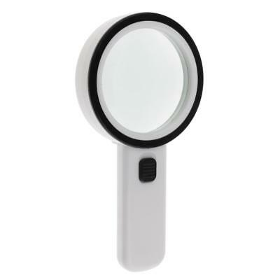 Lighted Handheld Magnifier Reading Glass Lens Jewelry Loupe 10X Magnifying