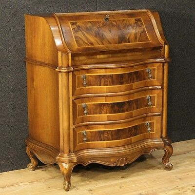 Fore venetian furniture secretary desk dresser wood nut antique style secrétaire