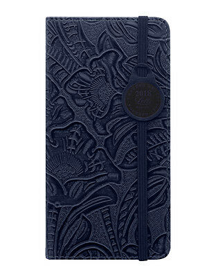 Letts Baroque Navy Floral Slim Week to View Diary 2018 (18-080616P)