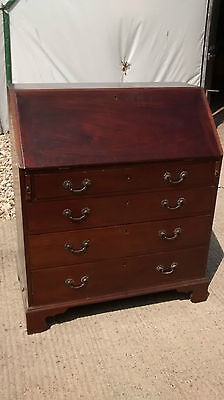 Georgian III Mahogany Writing Desk or Bureau Circa 1800