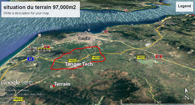 plot of land for sale in Tangier 95990 sq mtrs close by to( Tangier tech city )