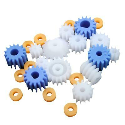 26x Assorted Teeth Plastic Gear Wheel for Toys Car Motor Shaft Model Crafts
