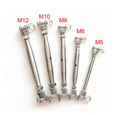 M5- M20 Jaw/Jaw Turnbuckle Closed Body Jaw for Rigging 316 Stainless Steel