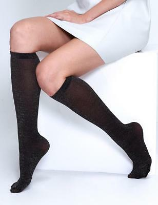 Andrea Bucci Lurex Knee Highs - Party Knee Highs - Perfect Sparkly Socks