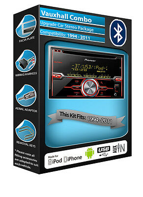 Vauxhall Combo CD player, Pioneer car stereo AUX USB, Bluetooth Handsfree kit
