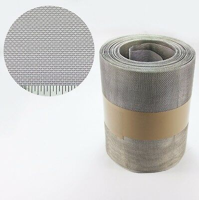 #16 1.31mm Hole x 0.28mm Wire Stainless Steel Insect Mesh Roll 75mm x 10 Metre