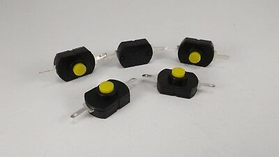 5 pcs Switch with on/off push button mini black latching switch small projects