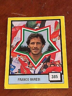 FRANCO BARESI MILAN 1990 Vallardi figurina card sticker Italia ultra calcio 90