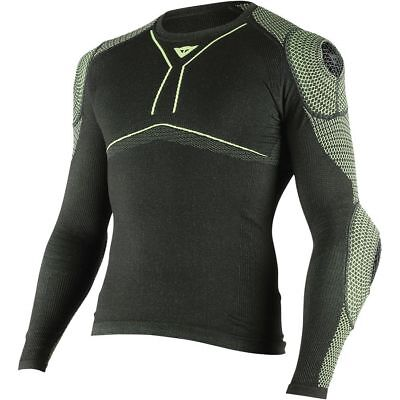 Dainese D-Core Armor Mens Long Sleeve Shirt Black/Fluo Yellow