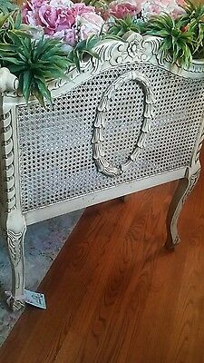 Large Fun Vintage Romantic Homes French Carved Barbola Style Wreath Cane Planter