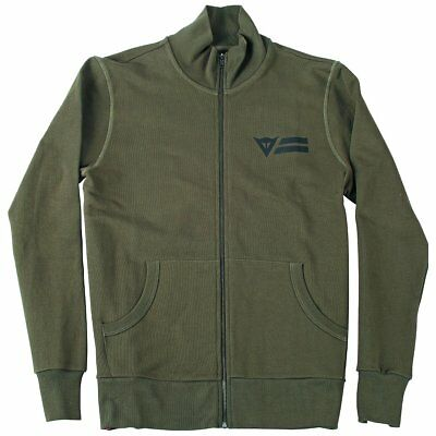 Dainese N'Joy (Enjoy) Every Road Mens Zip-Up Sweatshirt Army Green XS