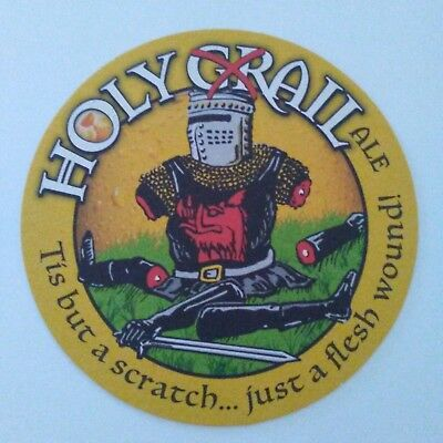 British Comedy Group Monty Python's Holy Grail Ale Set Of 2 Coasters Nos
