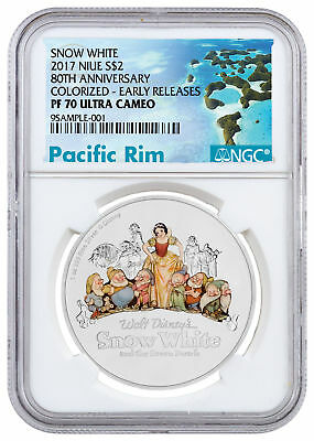 2017 Niue Disney Classics Snow White 80th 1 oz Silver NGC PF70 UC ER SKU50225