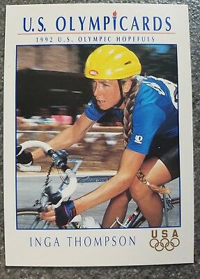 US Olymp Cards Inga Thompson OS 1992 Nr. 34 Trading Card