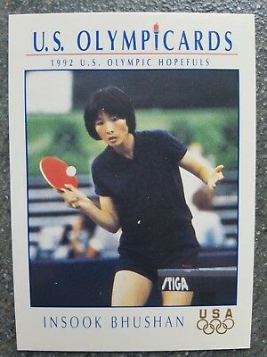 US Olymp Cards Insook Bhushan OS 1992 Nr. 77 Trading Card