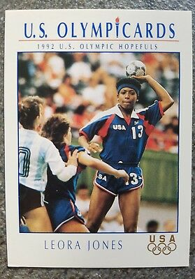 US Olymp Cards Leora Jones OS 1992 Nr. 80 Trading Card