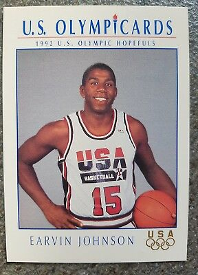 US Olymp Cards Earvin Johnson OS 1992 Nr. 11 Trading Card