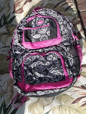 THIRTY-ONE(31) black white and pink laptop back pack