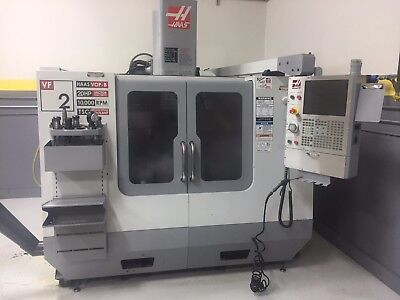 Haas VF-2 Vertical CNC Machining Center, 2007, with 4th Axis Electrics