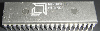AMD  AM2901CPC 40 Pin Four-Bit Bipolar Microprocessor Slice used fully tested.