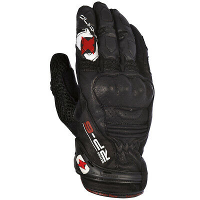 Oxford RP-6 Tech Black Motorcycle Leather / Textile Short Gloves All Sizes