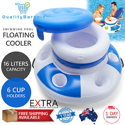 Mega Chill Inflatable Esky Floating Drink Cooler Pool Beverage Cup Bottle Holder
