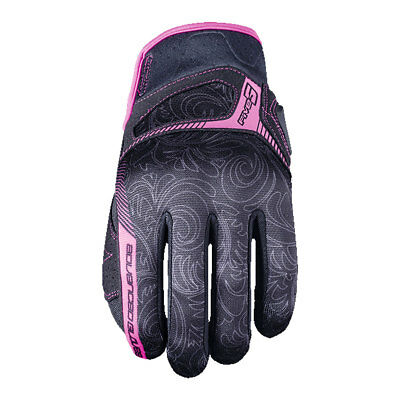 Five RS3 Replica Black / Pink Motorrad Ladies Synthetic Leather Gloves All Sizes