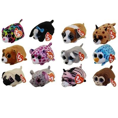 "TY Beanie Boos Teeny Tys Stackable Plush - SET OF 12 (4"") - with Heart Tags"