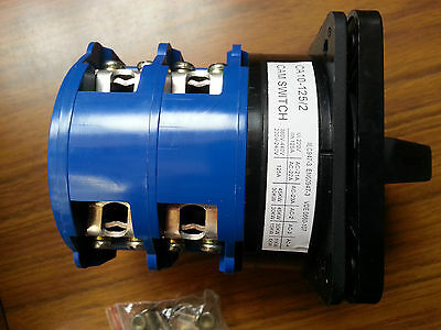 A 125 Amp Rotary Cam Changeover Switch 2pole 3position 1-0-2 CA10 Phase Selector