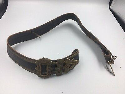 Victorian Volunteer Cross belt - Gilt Lace and Leather
