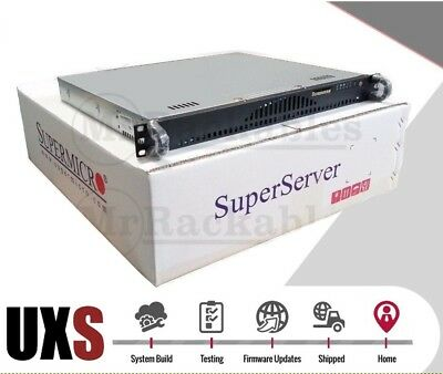 "UXS Server 1U Open Source Firewall Router 3Ghz Quad Core 8GB 14"" 4x 1GBE LAN"