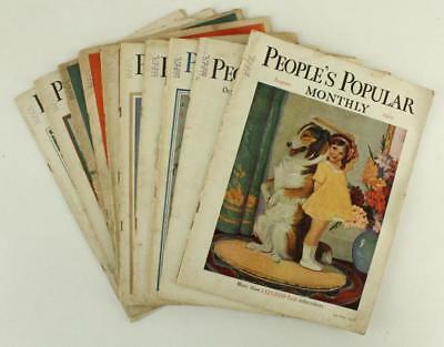 Vintage Advertising Paper Magazine Lot PEOPLE'S POPULAR MONTHY 1929-30