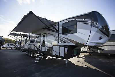 Travel Home for the Holidays in this NEW 2018 Cyclone 4115 5th Wheel Toy Hauler