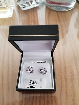 925 silver and Cz earrings