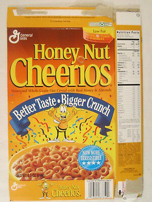 mt general mills cereal box honey nut cheerios 1996 6 5oz better
