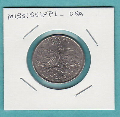 """USA COMMEMORATIVE COIN - STATE QUARTERS SERIES - """"Mississippi"""" USA"""