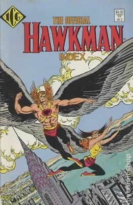 Official Hawkman Index #2 1987 FN Stock Image