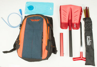Fly Snowmobile Backpack With Hydration System, Shovel W/Saw & Avalanche Probe