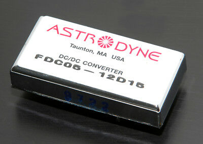 Astrodyne Dc - Dc Converter, 9-18Vdc In, +/-15Vdc Out, 5 W, Isolated, Regulated